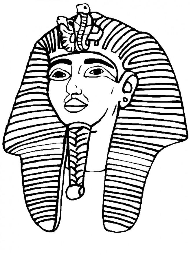 Coloriage et dessins gratuits Egypte Pharaon Toutânkhamon à imprimer