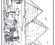 Coloriage et dessins gratuit Egypte Pyramide à imprimer