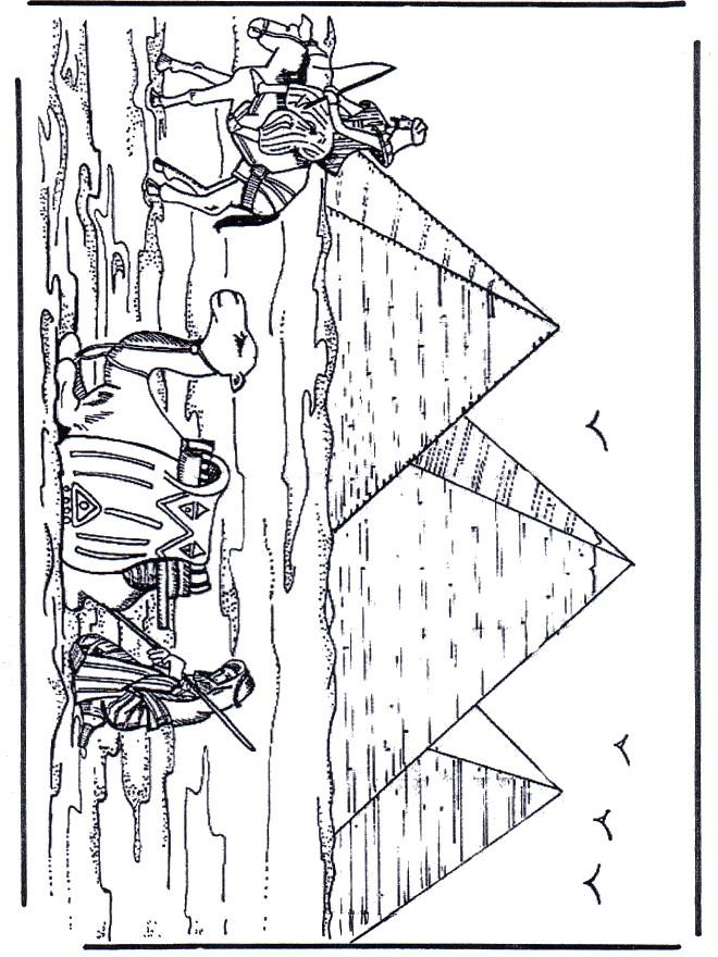 Coloriage et dessins gratuits Egypte Pyramide à imprimer