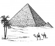 Coloriage Egypte Pyramide maternelle