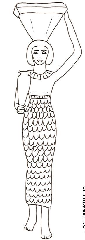 Coloriage et dessins gratuits Femme égyptienne traditionnelle à imprimer