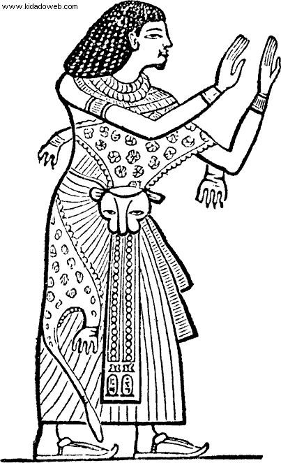 Coloriage et dessins gratuits Habillage en Egypte ancienne à imprimer