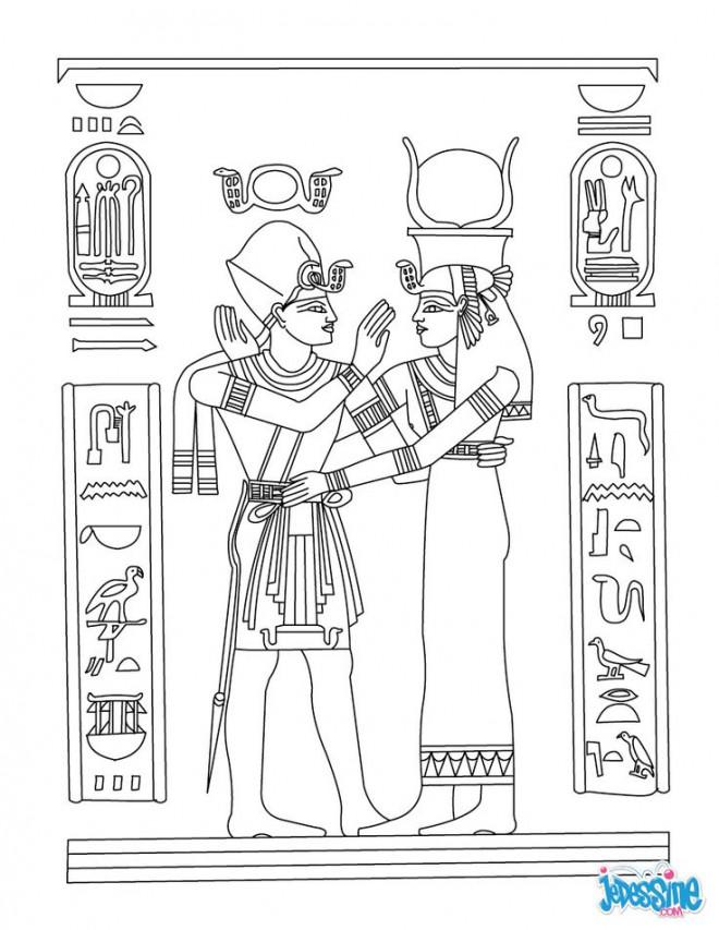 Coloriage et dessins gratuits Hiéroglyphe en égypte à imprimer