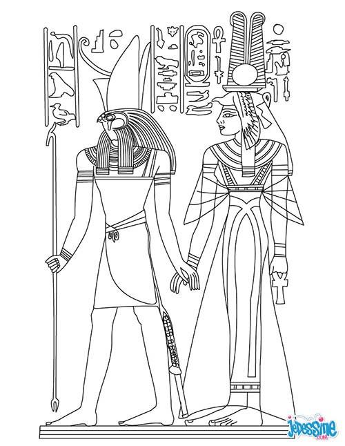 Coloriage et dessins gratuits Hiéroglyphique égyptienne antique à imprimer