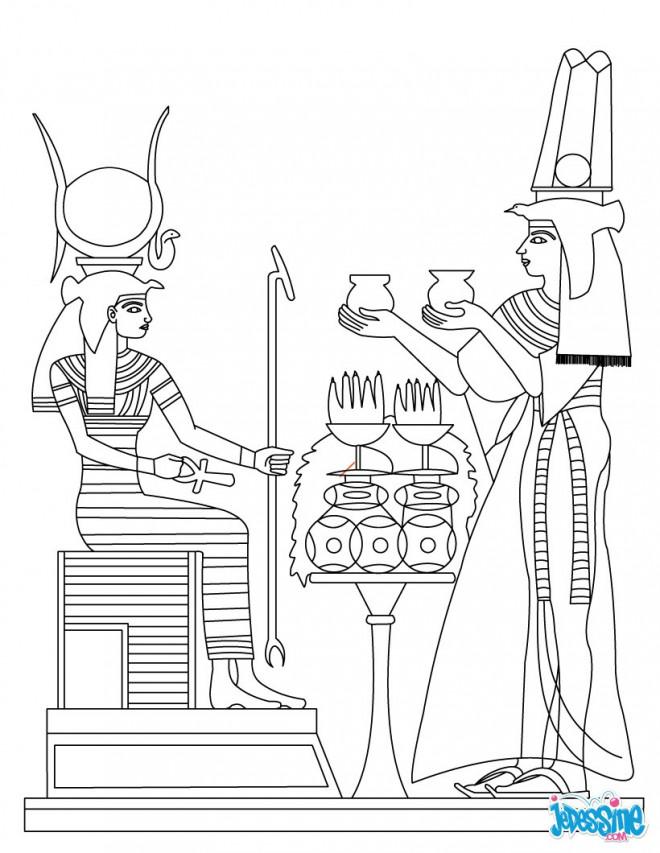 Coloriage et dessins gratuits Histoire d'Egypte à imprimer
