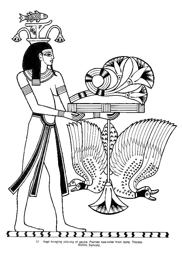 Coloriage et dessins gratuits Illustration Egypte magnifique à imprimer