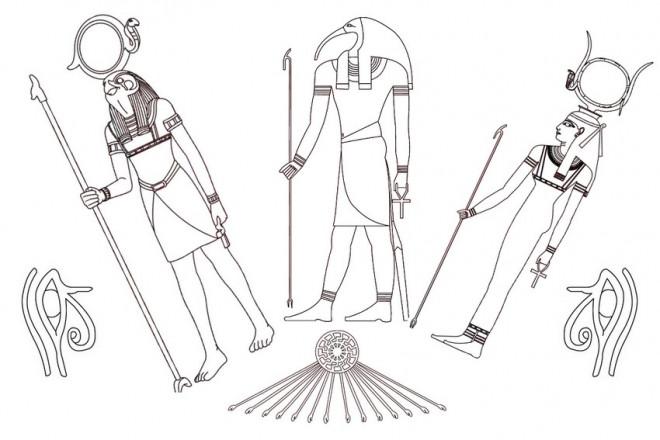 Coloriage et dessins gratuits Les Dieux d'Egypte à imprimer