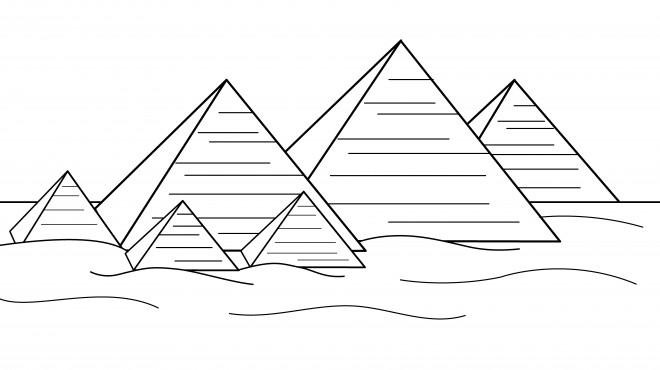 Coloriage et dessins gratuits Les Pyramides de Gizeh à imprimer