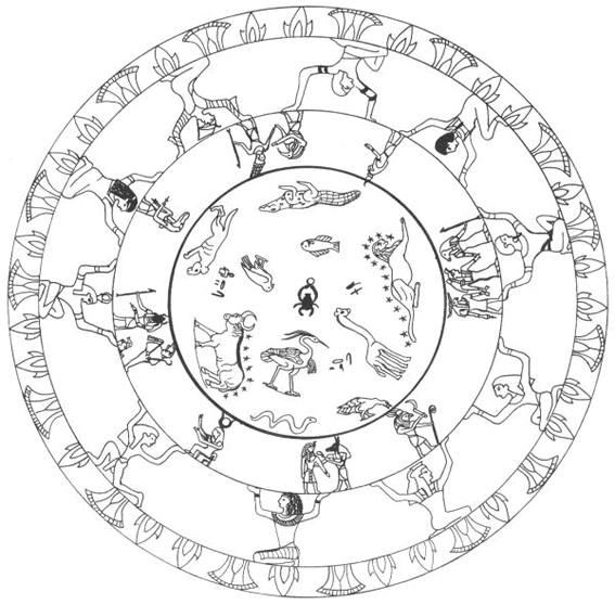 Coloriage et dessins gratuits Mandala Egypte adulte à imprimer