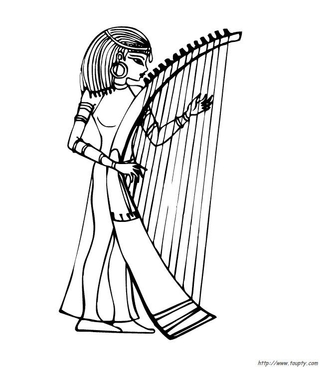 Coloriage et dessins gratuits Musique égyptien à imprimer