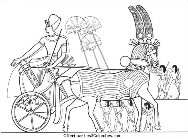 Coloriage et dessins gratuits Papyrus egyptien adorable à imprimer