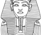 Coloriage et dessins gratuit Pharaon Egyptien couleur à imprimer