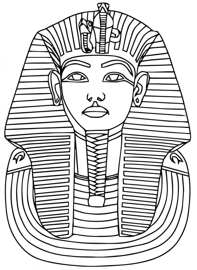 Coloriage et dessins gratuits Pharaon Egyptien couleur à imprimer