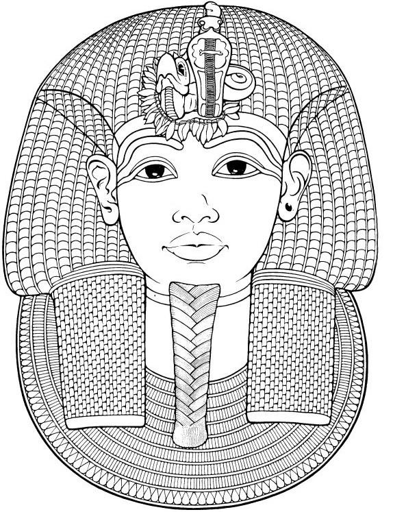 Coloriage et dessins gratuits Pharaon Toutânkhamon en ligne à imprimer