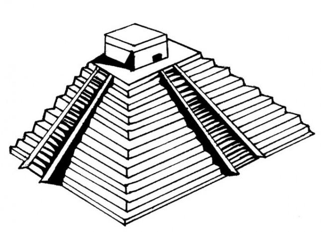 Coloriage et dessins gratuits Pyramide maternelle à imprimer