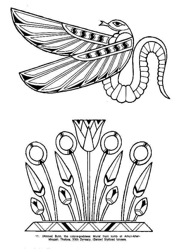 Coloriage et dessins gratuits Serpent magique en Egypte à imprimer