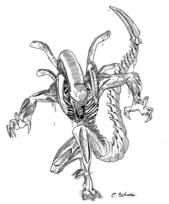 Coloriage et dessins gratuits Affiche du Film Alien à imprimer