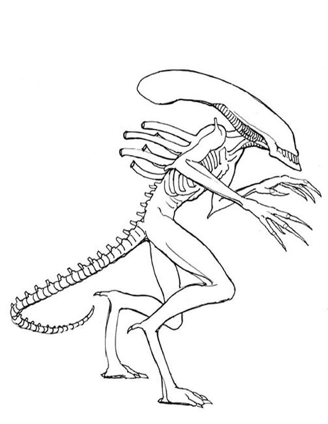 Coloriage et dessins gratuits Alien Le Film à imprimer