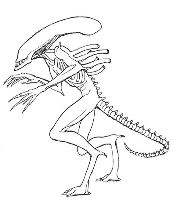 Coloriage et dessins gratuits Alien stylisé à imprimer
