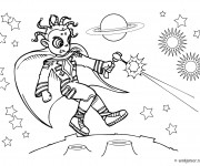 Coloriage et dessins gratuit Combat dans L'univers à imprimer