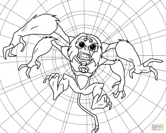 Coloriage et dessins gratuits Extraterrestre araignée à imprimer