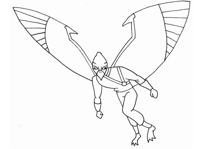Coloriage et dessins gratuits Extraterrestre avec des Ailes à imprimer