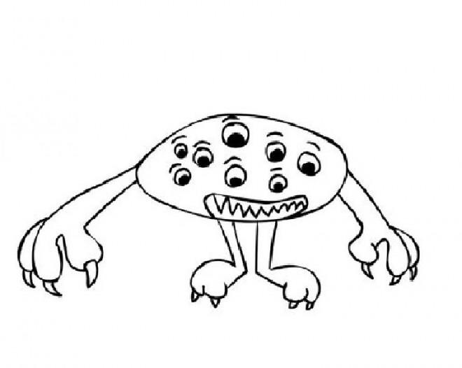 Coloriage et dessins gratuits Extraterrestre avec plusieurs yeux à imprimer