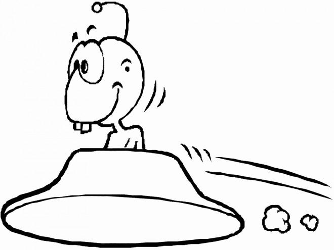 Coloriage et dessins gratuits Extraterrestre comique à imprimer