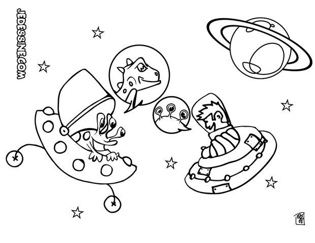 Coloriage et dessins gratuits Extraterrestre dans L'espace à imprimer