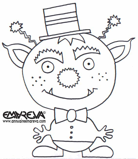 Coloriage et dessins gratuits Extraterrestre pour Les Petits à imprimer