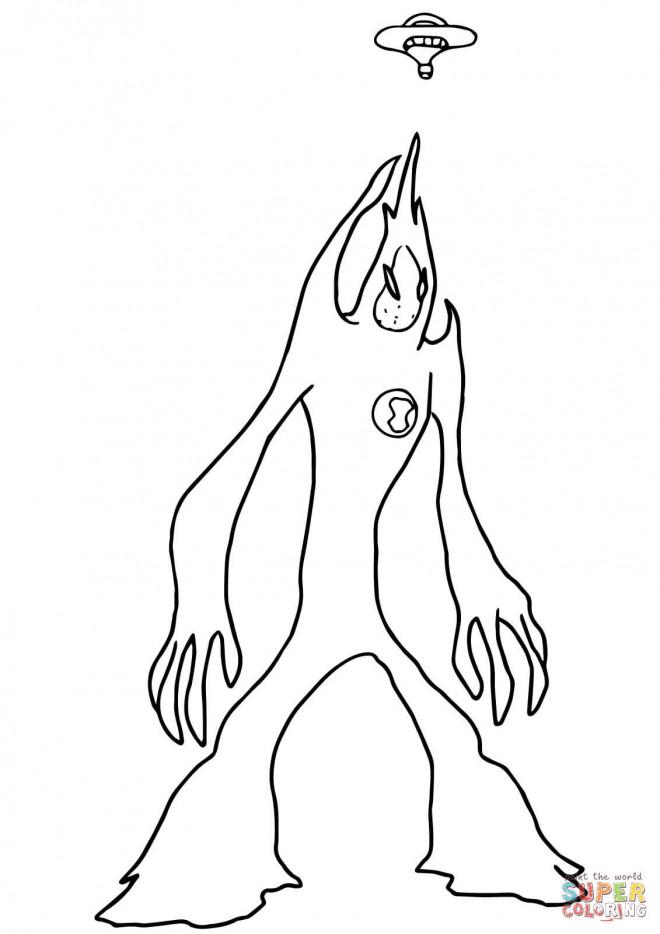 Coloriage et dessins gratuits Extraterrestre simple au crayon à imprimer