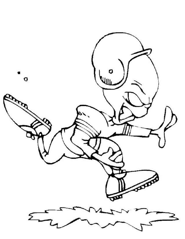 Coloriage et dessins gratuits Extraterrestre sportif à imprimer