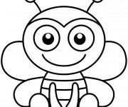 Coloriage Abeille Facile