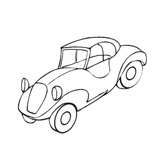 Coloriage et dessins gratuits automobile ancienne facile à imprimer