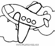 Coloriage avion facile maternelle