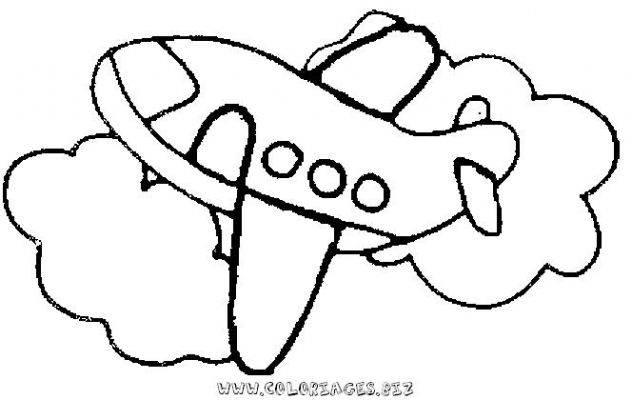Coloriage Avion Facile Maternelle Dessin Gratuit à Imprimer