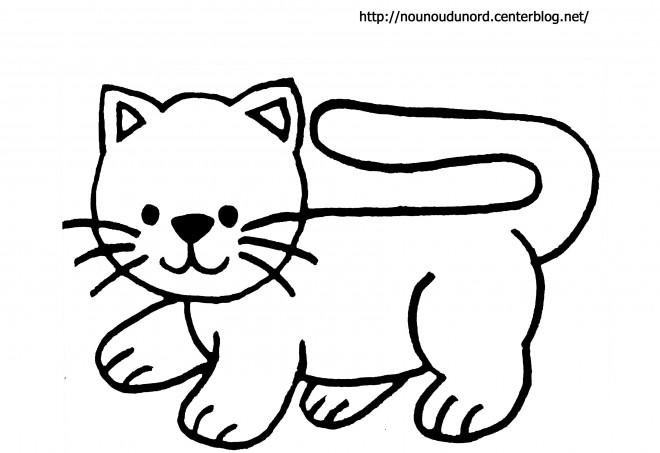 Coloriage chat facile d couper dessin gratuit imprimer - Chat facile et gratuit ...