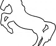 Coloriage Cheval galopant facile