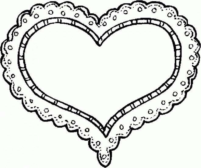 Coloriage Coeur Facile Dessin Gratuit à Imprimer