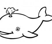 Coloriage Facile Baleine