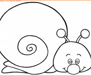 Coloriage Facile Escargot