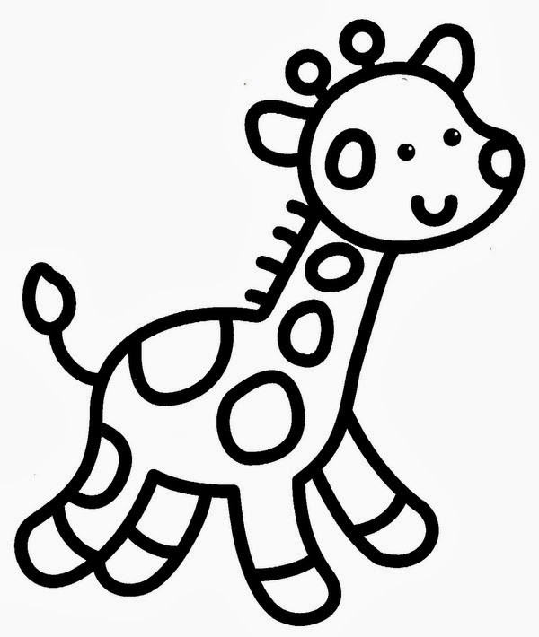 Coloriage et dessins gratuits Facile Giraffe à imprimer