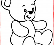 Coloriage Facile Peluche