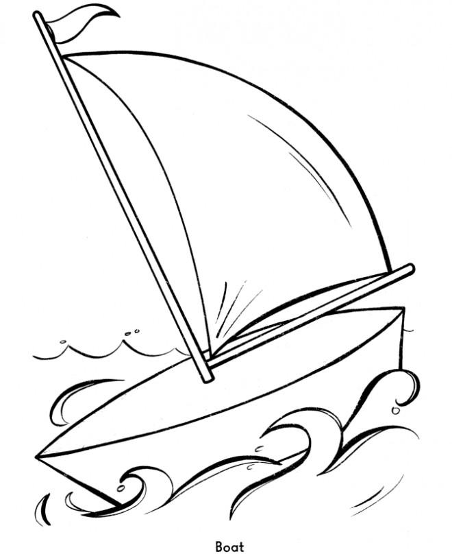 Coloriage et dessins gratuits Facile Voilier à imprimer