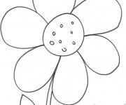 Coloriage Fleur dessiné par le crayon