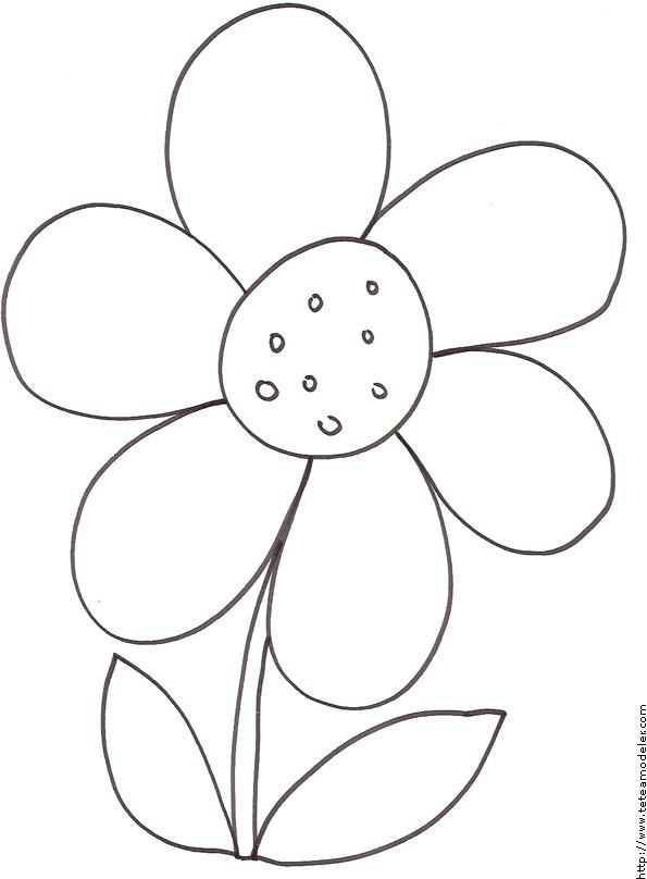 Coloriage et dessins gratuits Fleur dessiné par le crayon à imprimer