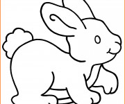 Coloriage Lapin Facile à colorier