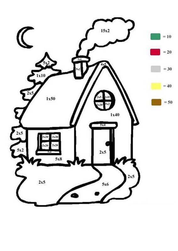 Coloriage Maison Numéroté Facile Dessin Gratuit à Imprimer
