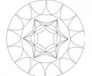 Coloriage et dessins gratuit Mandala Facile 1 à imprimer