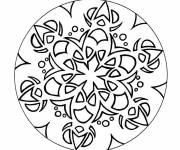 Coloriage Mandala flocon facile